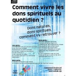 Comment vivre les dons spirituels au quotidien ? - Coffret 5CD